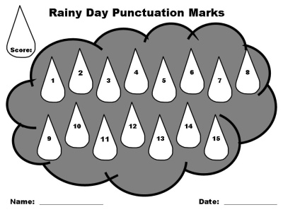 Elementary Student Spring Punctuation Power Point Lesson Plan Activity