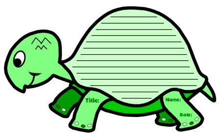 Turtle Creative Writing Templates