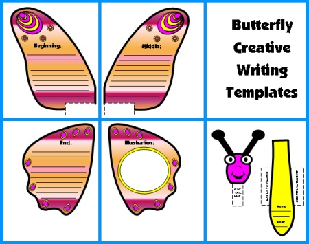 Spring Creative Writing Ideas Butterfly Templates and Worksheets