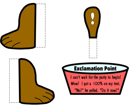 Punctuation Puppies Feet and Bowl Templates