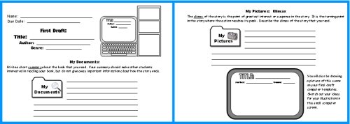 Computer Book Report Projects First Draft Writing Worksheets