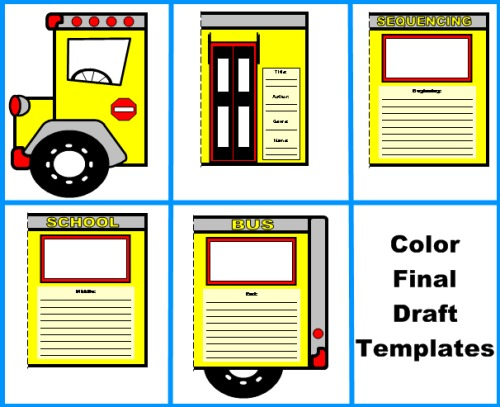 school bus book report projects templates worksheets grading rubric and bulletin board. Black Bedroom Furniture Sets. Home Design Ideas
