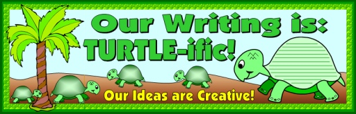 Spring Turtle Creative Writing Bulletin Board Display Ideas
