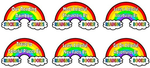 Spring Reading Rainbow Bulletin Board Dislay Ideas and Examples for Sticker Charts