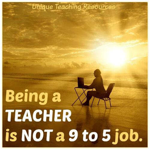 Tired teacher working on beach on weekend.