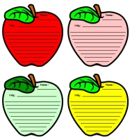 Apple Shaped Creative Writing Templates and Worksheets