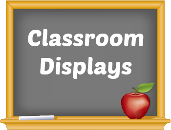 Back to school classroom and bulletin board displays