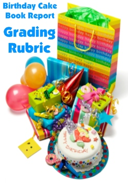 Grading Rubric for Main Character Birthday Cake Book Report Projects