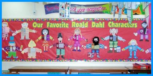 Roald Dahl Main Character Book Report Projects Bulletin Board Display