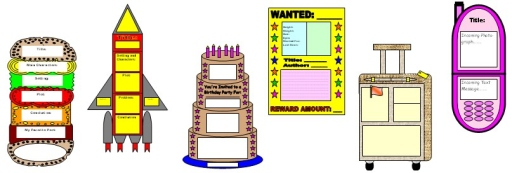 Book Report Templates, Projects, Sets, and Worksheets