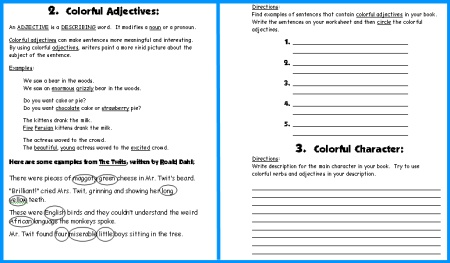 Butterfly Book Report Project First Draft Creative Writing Worksheets