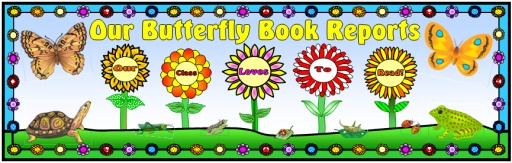 Butterfly Book Report Projects Bulletin Board Display Banner
