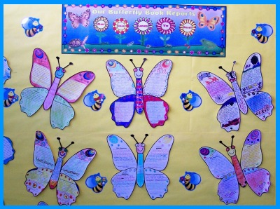 Spring Butterfly Book Report Projects Bulletin Board Display