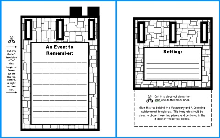 Extra Large Castle Book Report Project: Templates, Worksheets