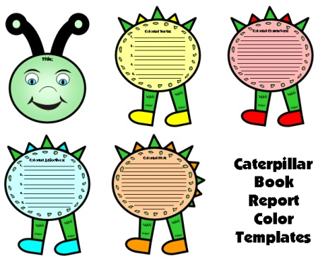 Caterpillar Book Report Project Templates and Worksheets