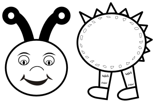 Isimez black and white caterpillar for Cat head coloring page