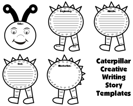 Large Caterpillar Writing Templates: Caterpillar Shaped Creative