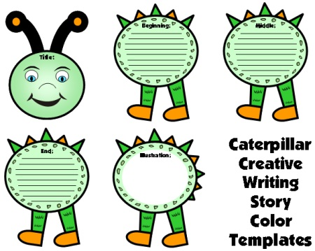 Spring Caterpillar Creative Writing Templates for Bulletin Board Display Ideas