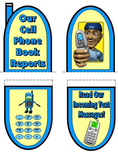 Fun Book Report Projects and Ideas Cell Phone Templates