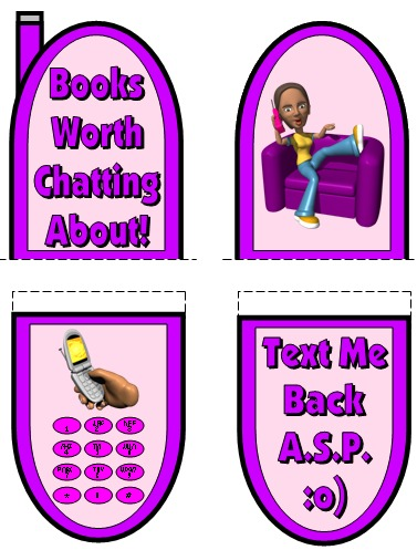 Creative Book Report Projects and Ideas Cell Phone Templates