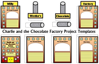 Charlie and the Chocolate Factory Fun Group Book Report Project Templates Roald Dahl