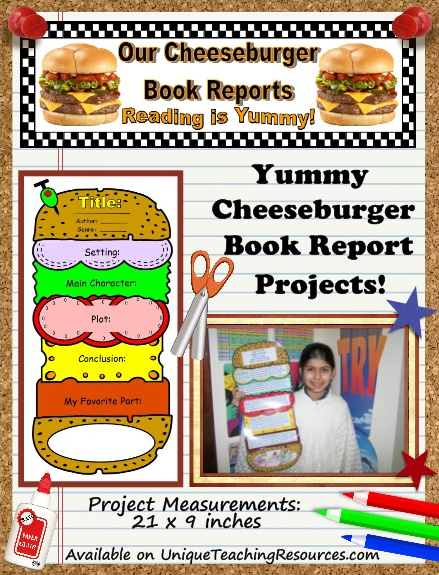 Unique teaching resources cheeseburger book report