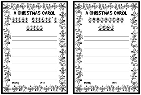 A Christmas Carol Creative Writing Project Lesson Idea