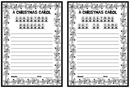 A Christmas Carol Charles Dickens Creative Writing Lesson Plans Idea