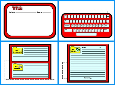 Computer Shaped Book Report Projects Templates