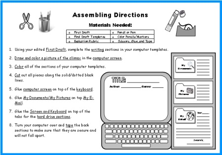 Computer Book Report Proejcts Directions and Worksheets