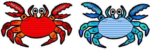 Dive Into Reading Crab Book Report Projects and Templates
