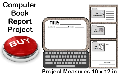 Creative Book Report Project Ideas:  Computer Templates