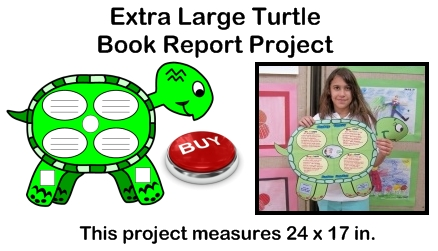 Creative Book Report Project Ideas:  Turtle Templates