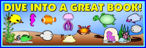 Dive Into Reading Bulletin Board Display Banner For Book Report Projects and Templates