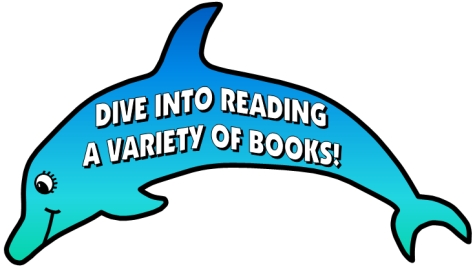 Dive Into Reading Classroom Bulletin Board Display Large Dolphin Template