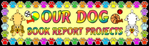 Dog Reading Book Reports Bulletin Board Display Banner