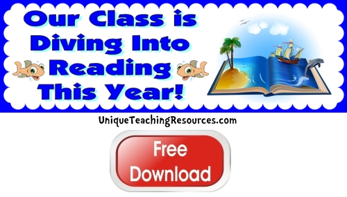 Click here to download this free Dive Into Reading bulletin board display banner for your classroom.