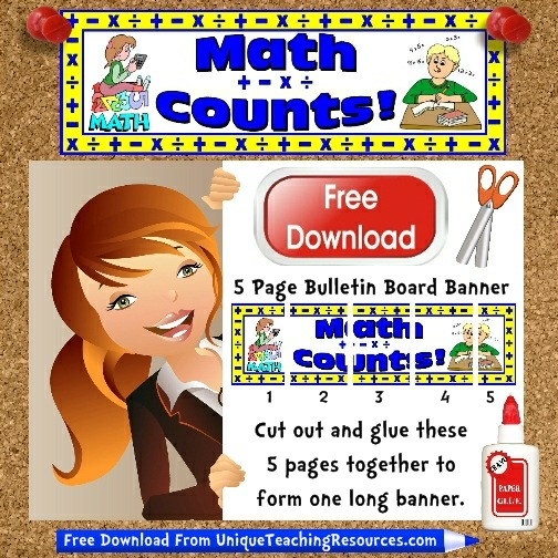 Download Free Math Bulletin Board Display Banner