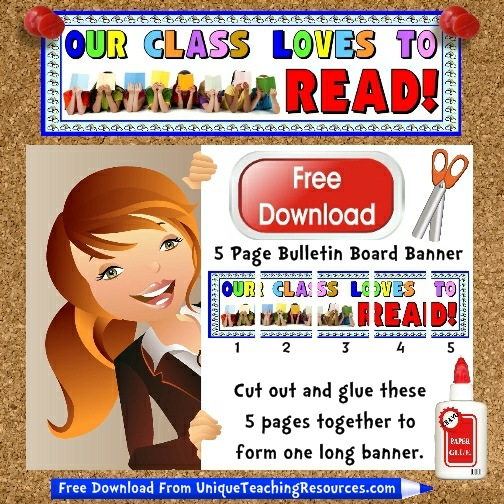 Download Free Reading Bulletin Board Display Banner
