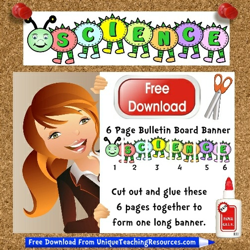 Download Free Science Caterpillar Bulletin Board Display Banner