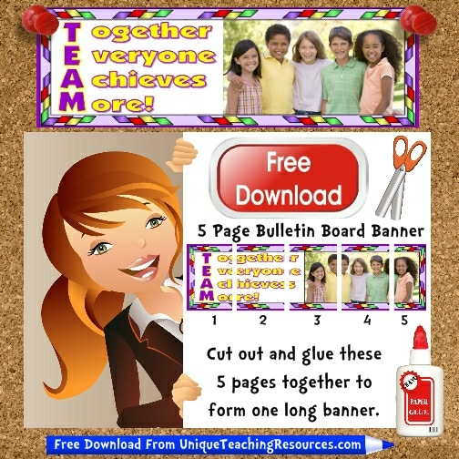 Download Free Teamwork Bulletin Board Display Banner