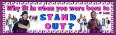 Free Dr Seuss Why fit in when you were born to stand out? Bulletin Board Banner