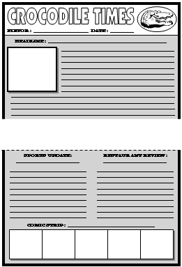 newspaper template for kids pdf