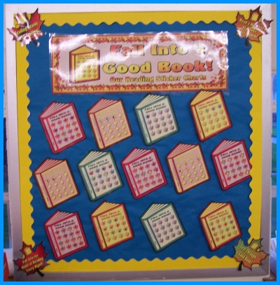 Fall Reading Sticker Charts Classroom Bulletin Board Display