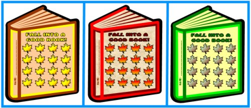 Thanksgiving Fall Sticker Charts:  Fall Into Reading