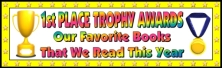 First Place Trophy Award Bulletin Board Display Banner