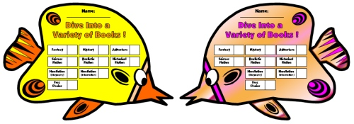 Dive Into Reading Sticker Charts Butterfly Fish