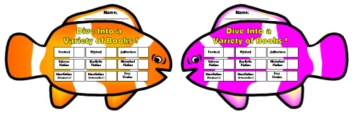 Dive Into Reading Sticker Charts Clown Fish