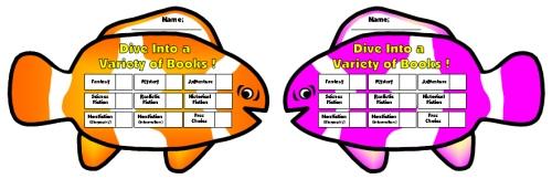 Dive Into Reading Sticker Charts Clown Fish