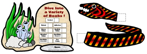 Dive Into Reading Sticker Charts Sea Snake Templates